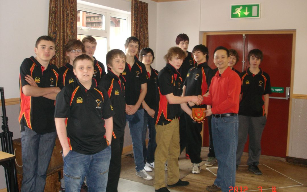 Under 15's thank Lotus Chinese for their support