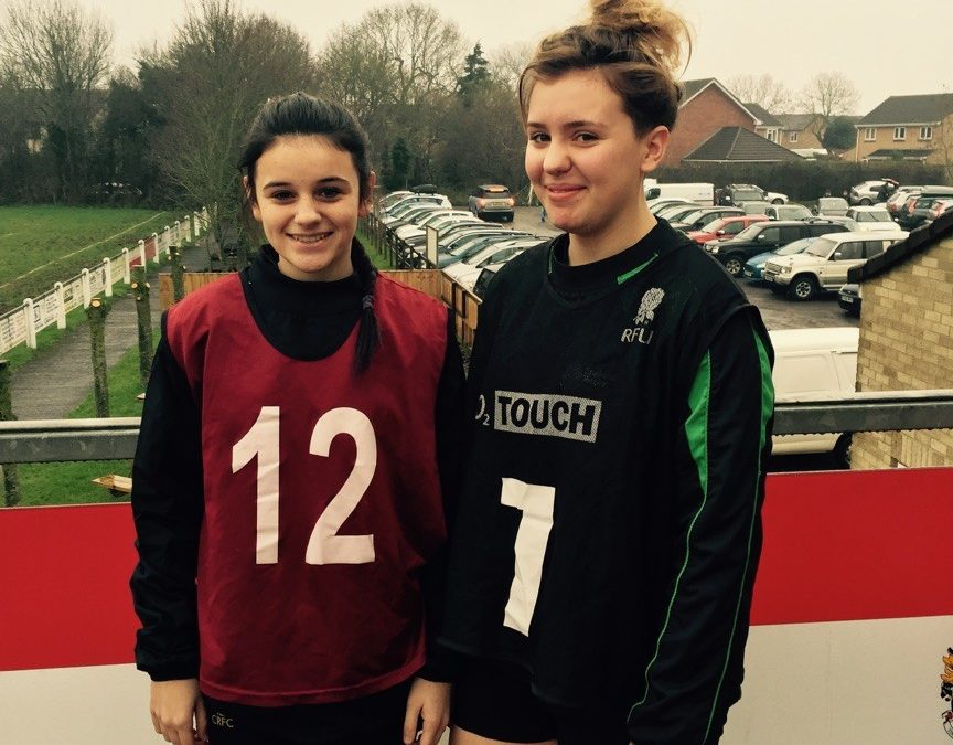 Cinderford U15's girls selected for South West England U15's