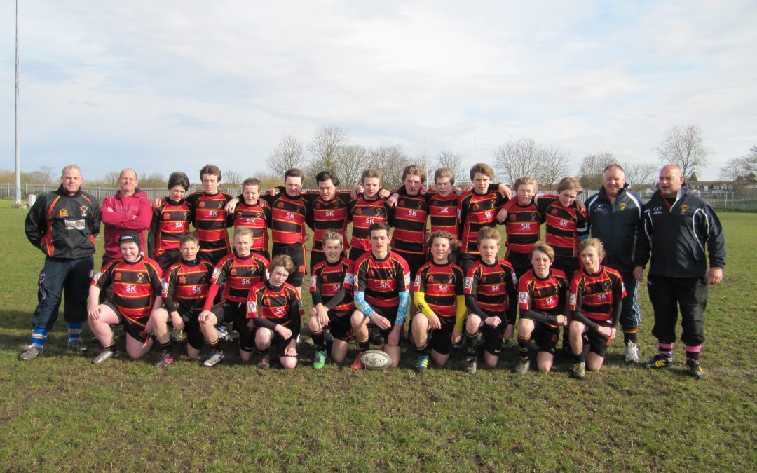 Under 14's in County Cup Plate Final Action