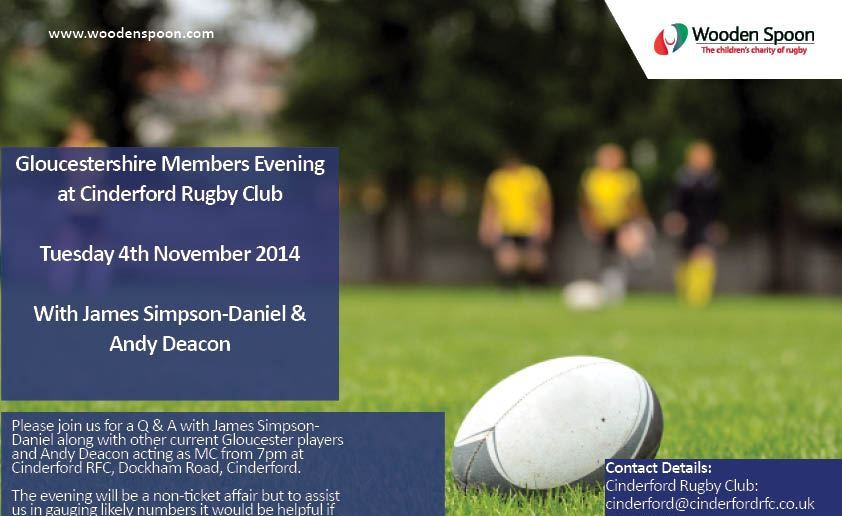 Wooden Spoon Evening at Cinderford