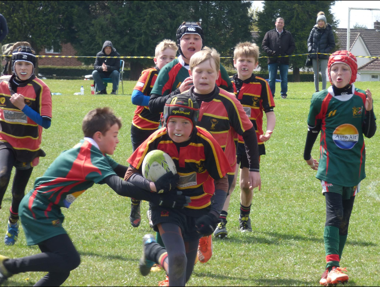 Under 11's at Berry Hill Festival