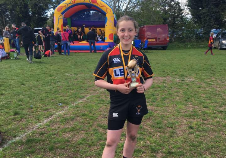 Cinderford u12s win Thornbury festival