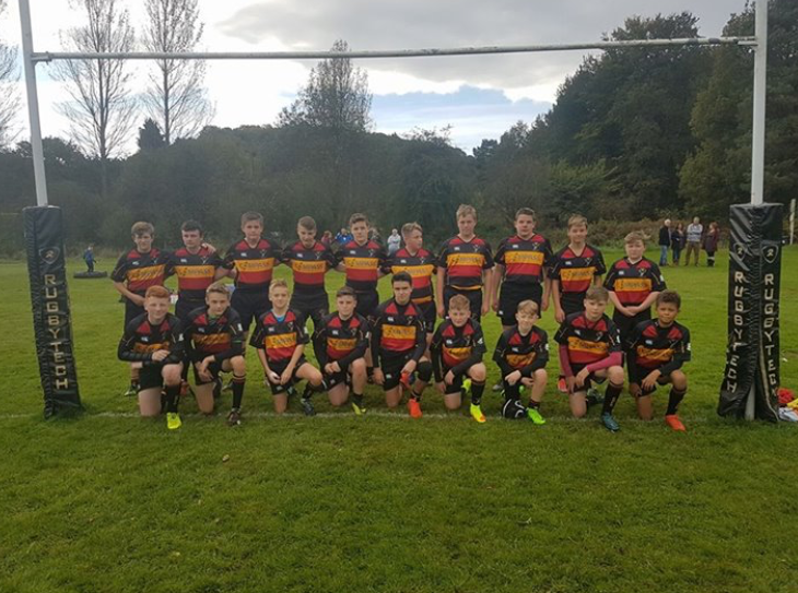Cinderford U-14's get a welcome in the valleys