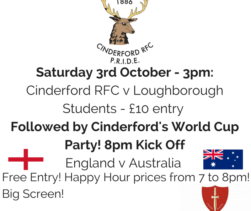 Cinderford Rugby World Cup Party