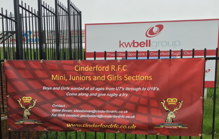 Contact details for mini and junior rugby at Cinderford